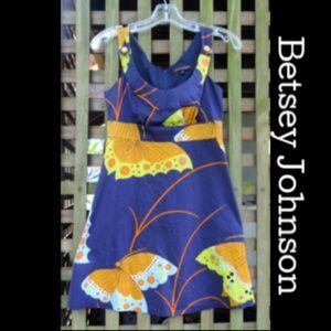 vintage Betsey Johnson mini zip dress Butterflies